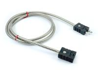 Thermocouple extension with standard plug and jack